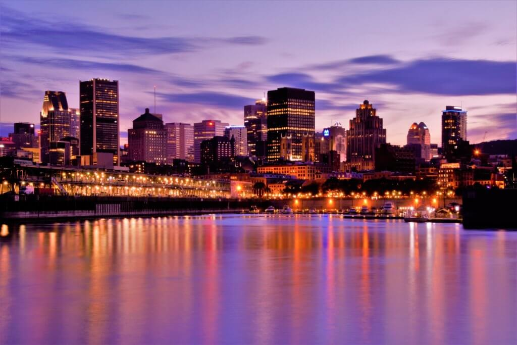 Picture of Montréal, Canada; not all French speaking artists come from France, such as Céline Dion