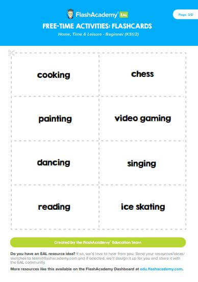 Free Time Flashcards Flashacademy