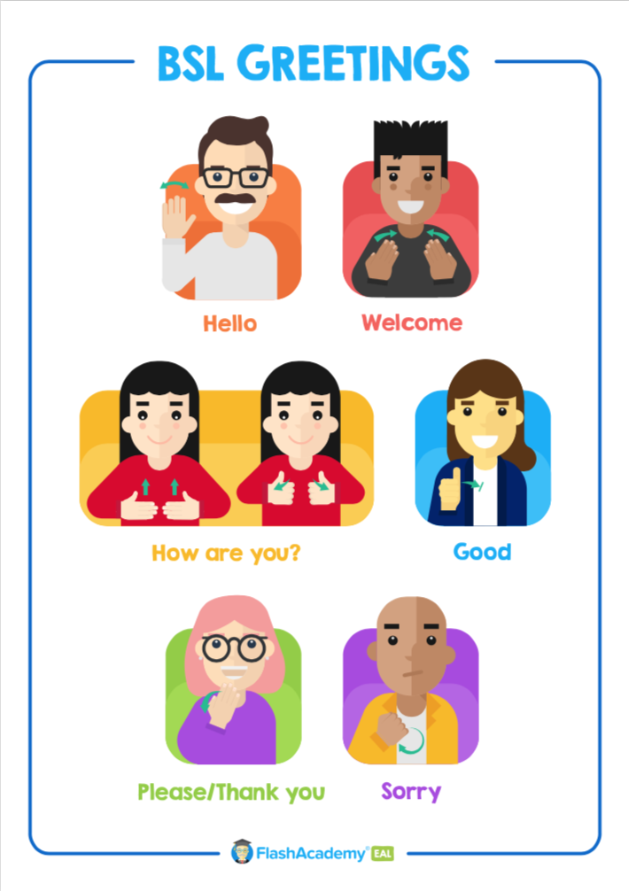 British Sign Language pack poster
